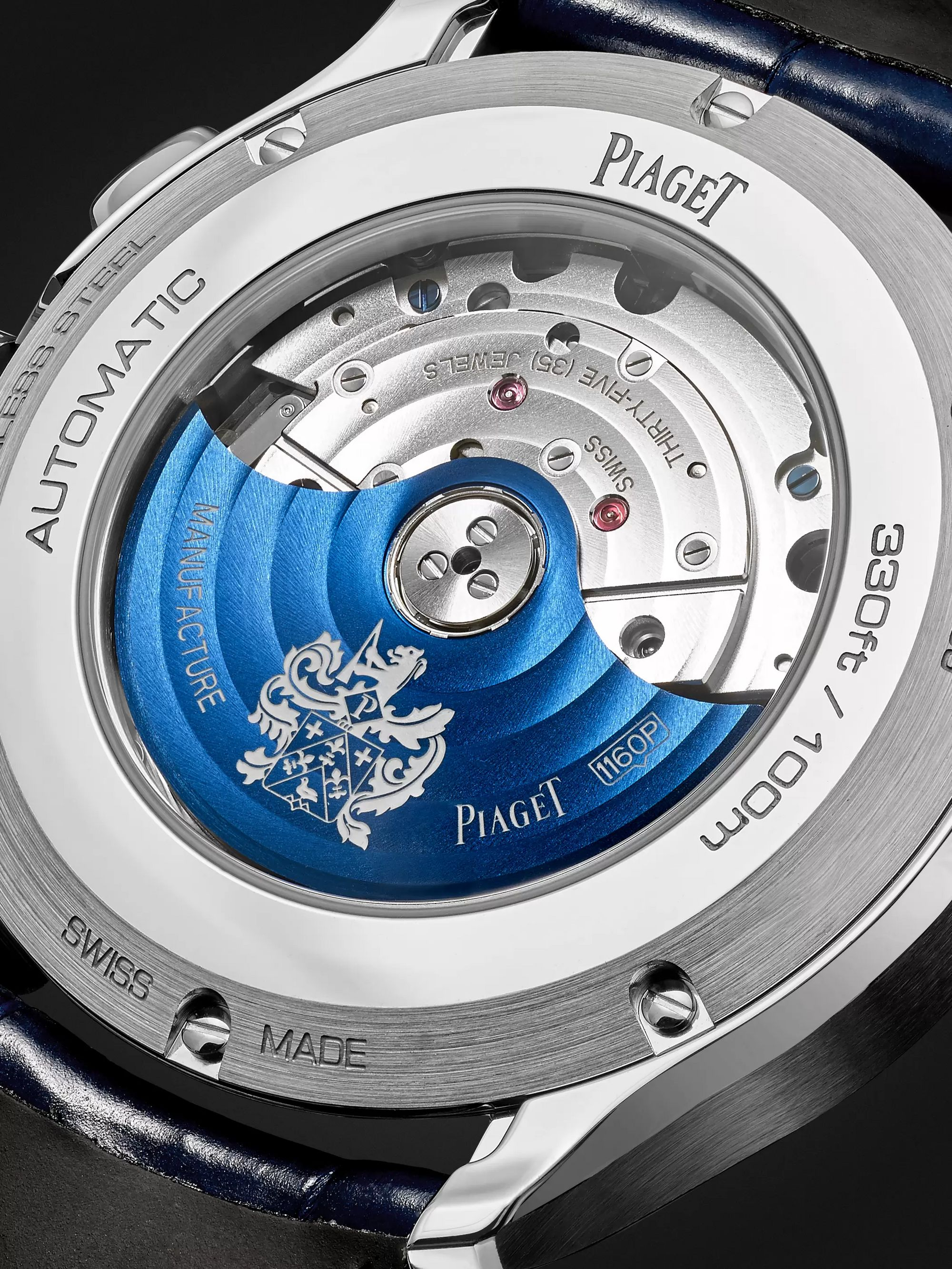 Piaget Polo S Automatic 42mm Stainless Steel and Alligator Watch, Ref. No. G0A43002