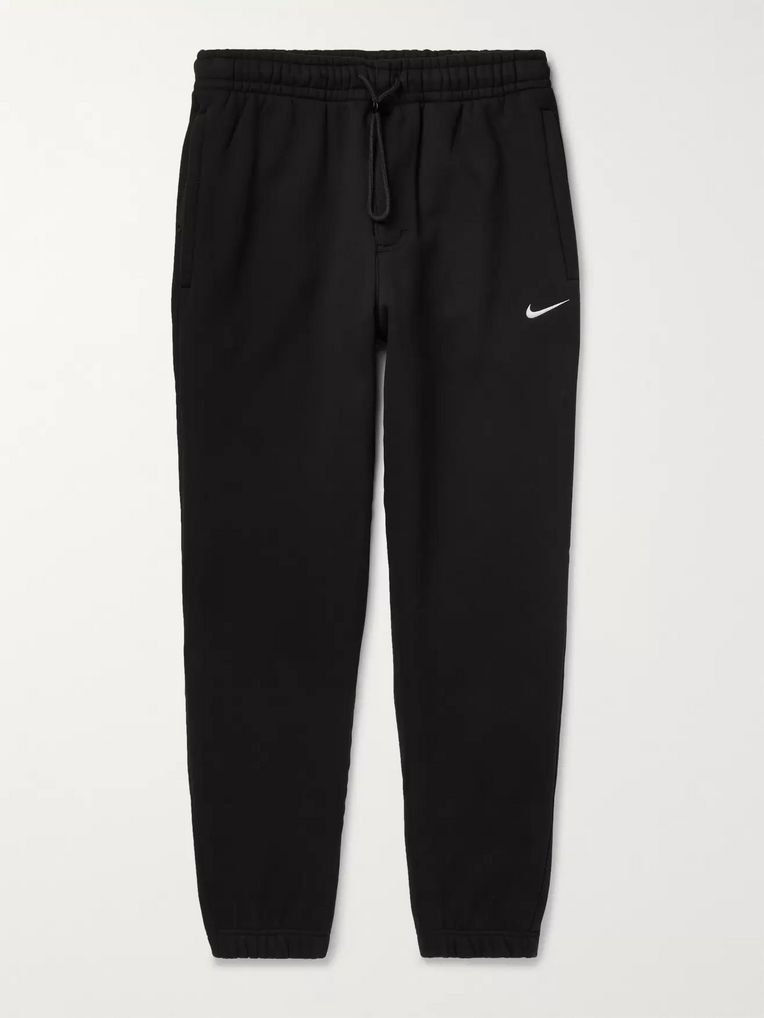 Nike Tapered Fleece-Back Cotton-Blend Sweatpants