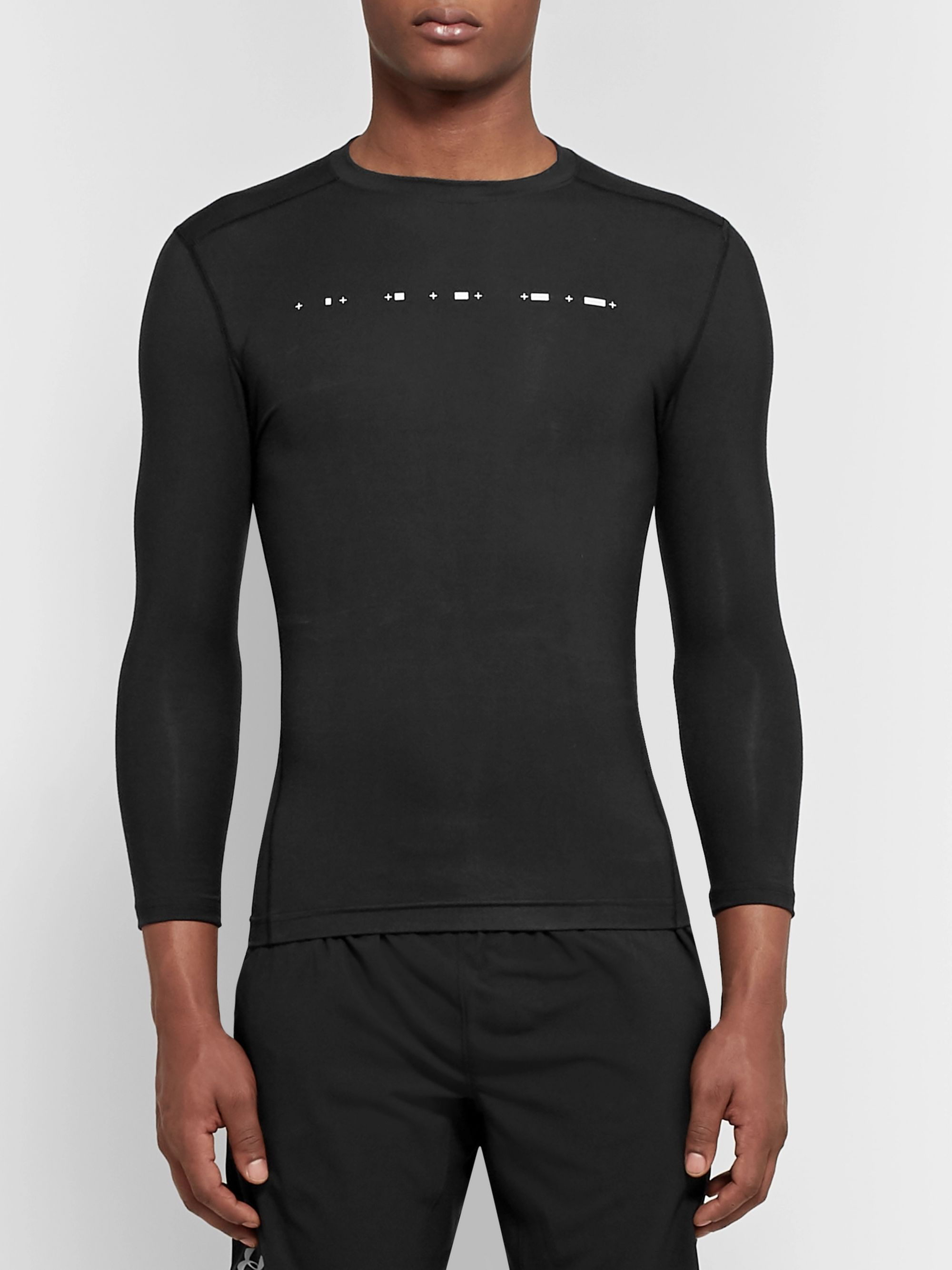Under Armour Athlete Recovery Compression Printed Stretch-Modal Top
