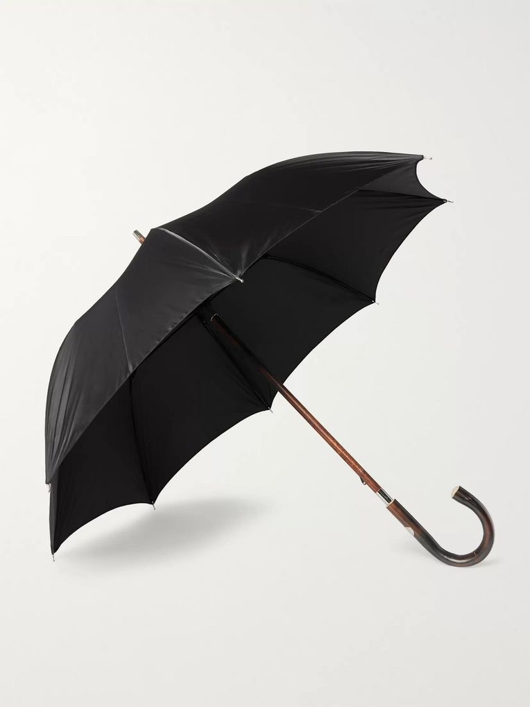 Francesco Maglia Chestnut Wood-Handle Umbrella