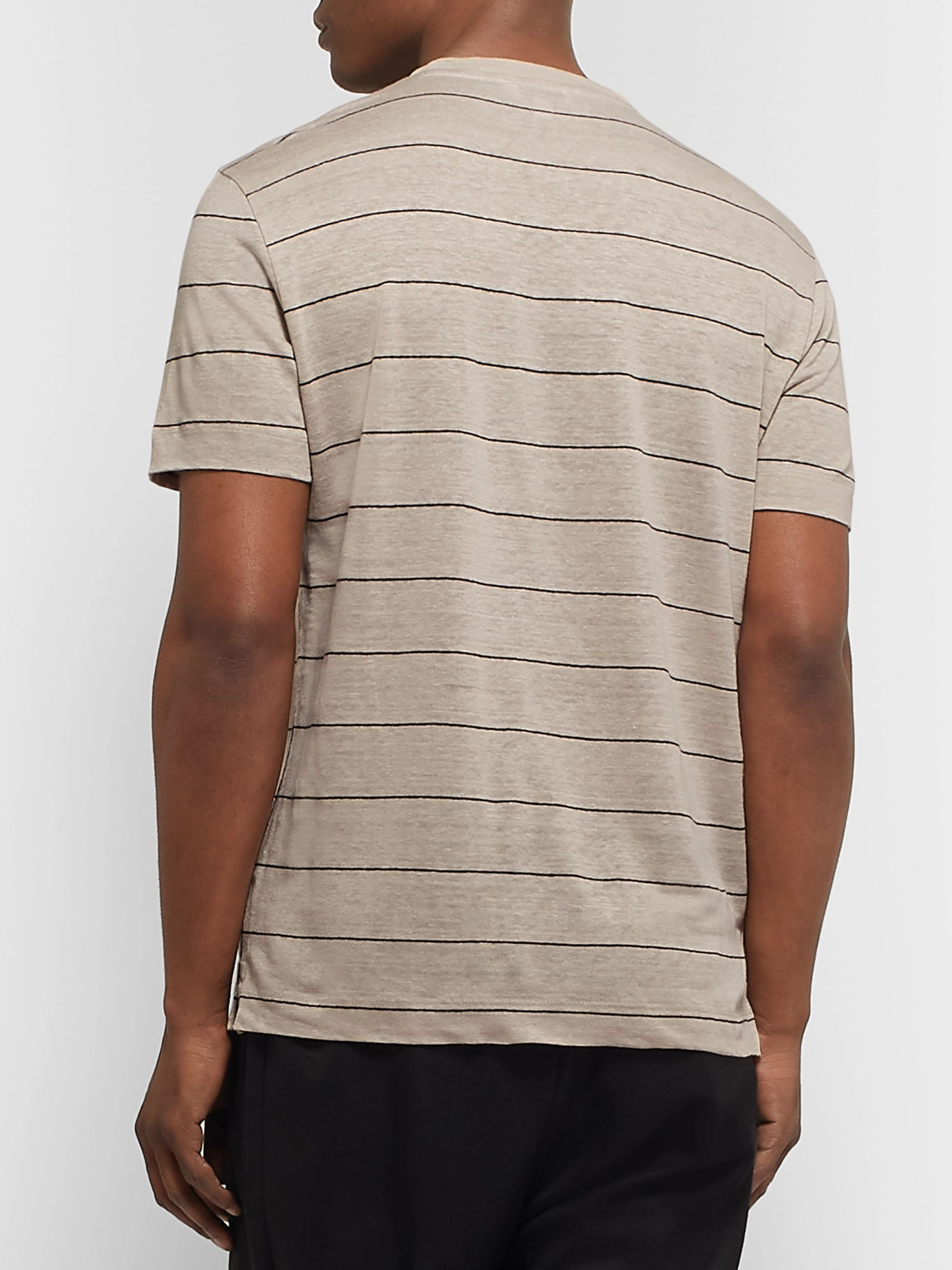 Club Monaco Striped Linen T-Shirt
