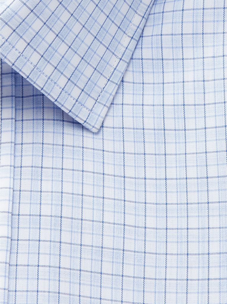 Charvet Light-Blue Checked Cotton Shirt