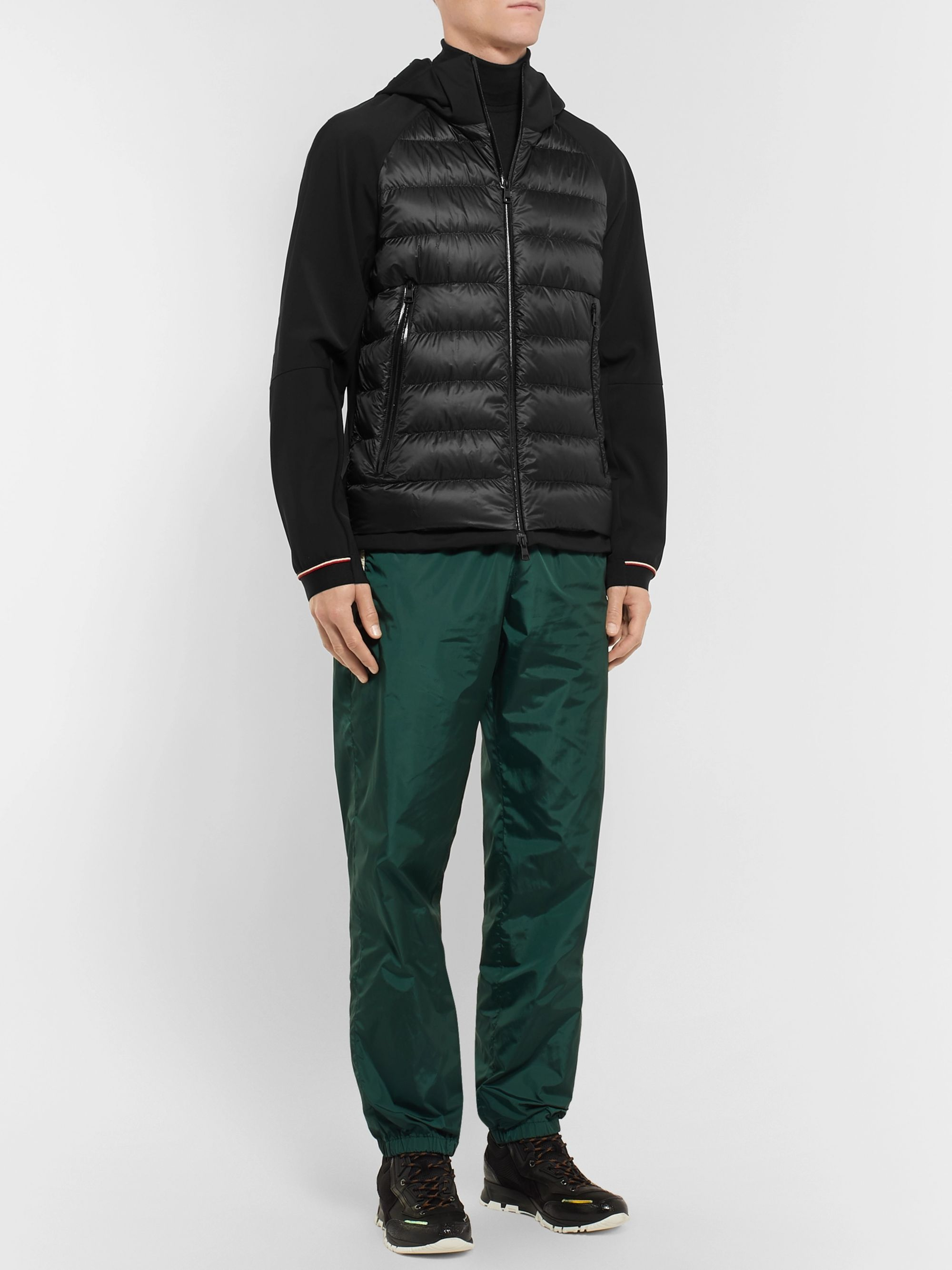 Moncler Fabian Panelled Quilted Shell Hooded Down Jacket
