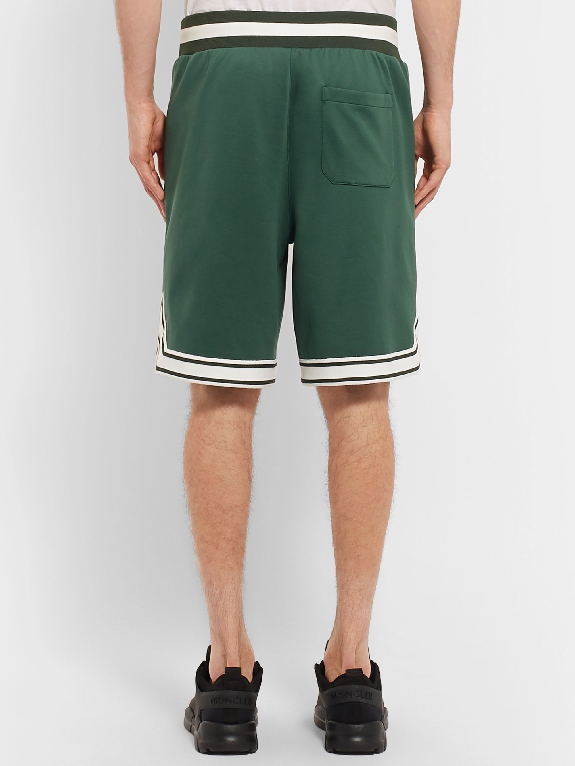 Moncler Striped Jersey Shorts