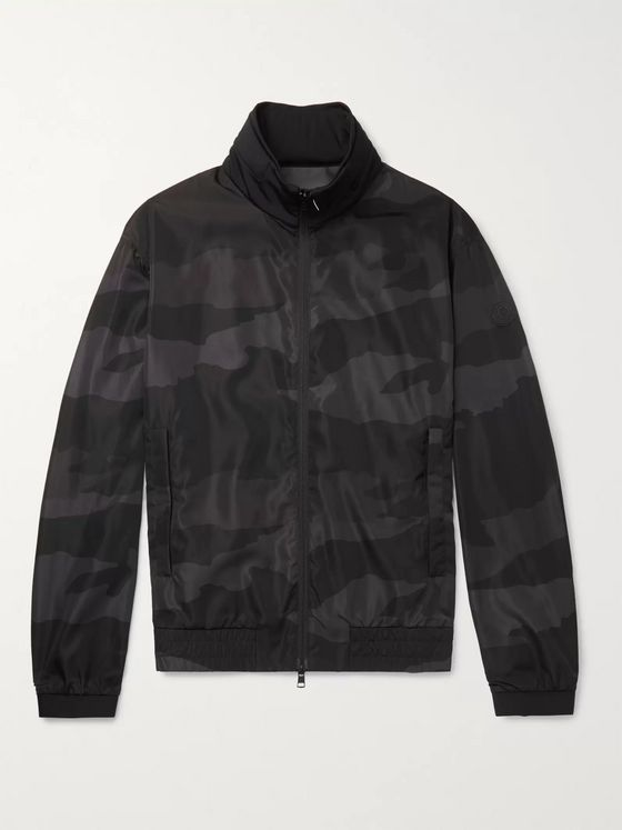 Moncler Theodore Camouflage-Print Shell Jacket