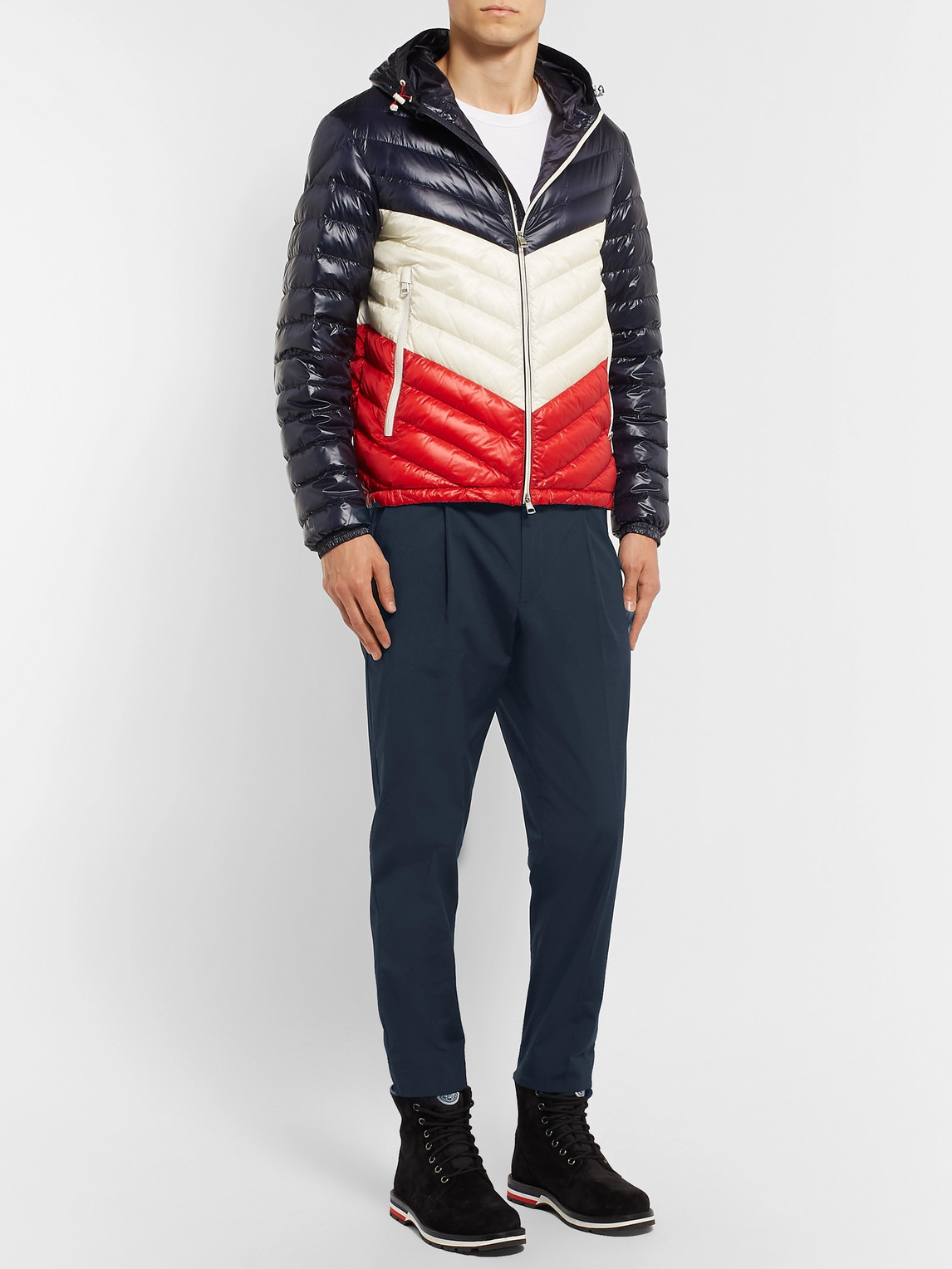 Moncler Tops TAPERED PLEATED STRETCH