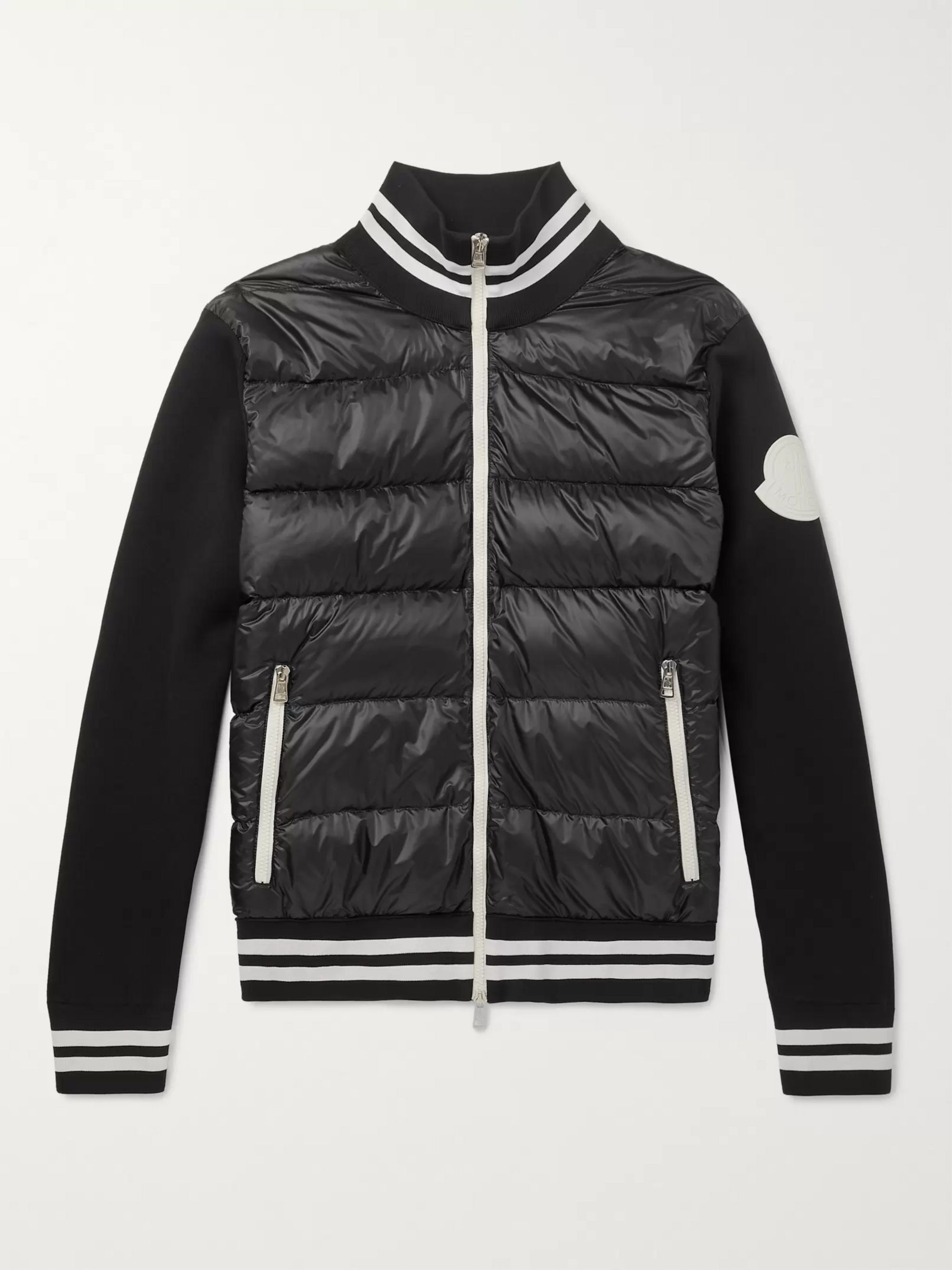 5eb94c0fa Slim-Fit Quilted Shell and Jersey Down Jacket