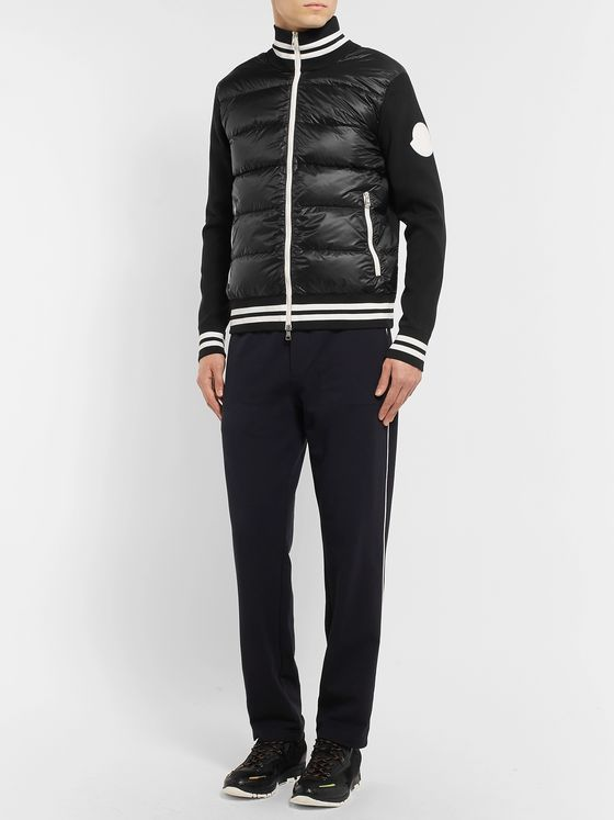 Moncler Slim-Fit Quilted Shell and Jersey Down Jacket