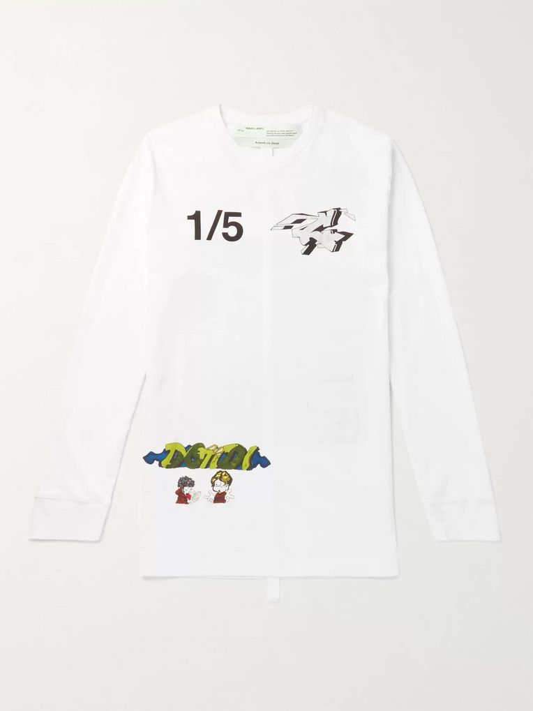 Off-White Demon Printed Cotton-Jersey T-Shirt