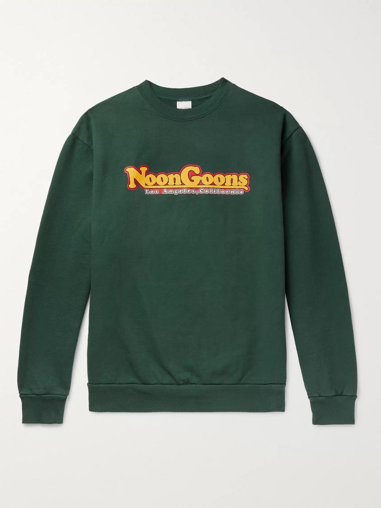 Noon Goons Logo-Print Fleece-Back Cotton-Jersey Sweatshirt