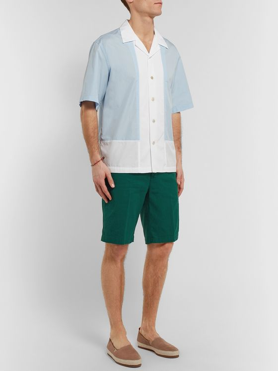 Barena Slim-Fit Linen and Cotton-Blend Shorts