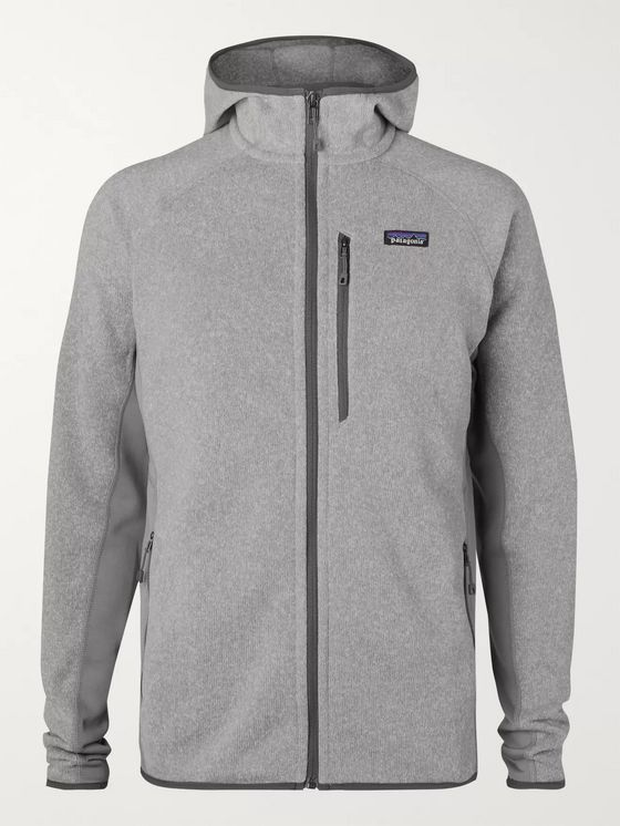 Patagonia Performance Better Sweater Jersey-Panelled Fleece-Back Textured-Knit Zip-Up Hoodie