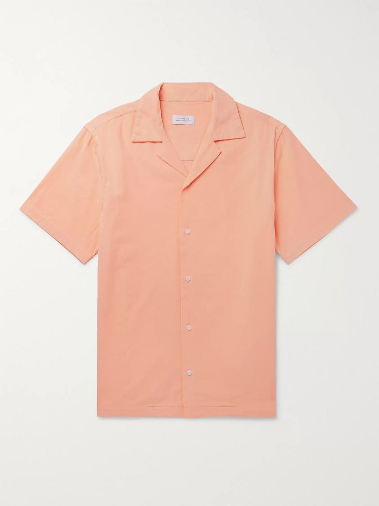 Saturdays NYC Camp-Collar Cotton-Corduroy Shirt