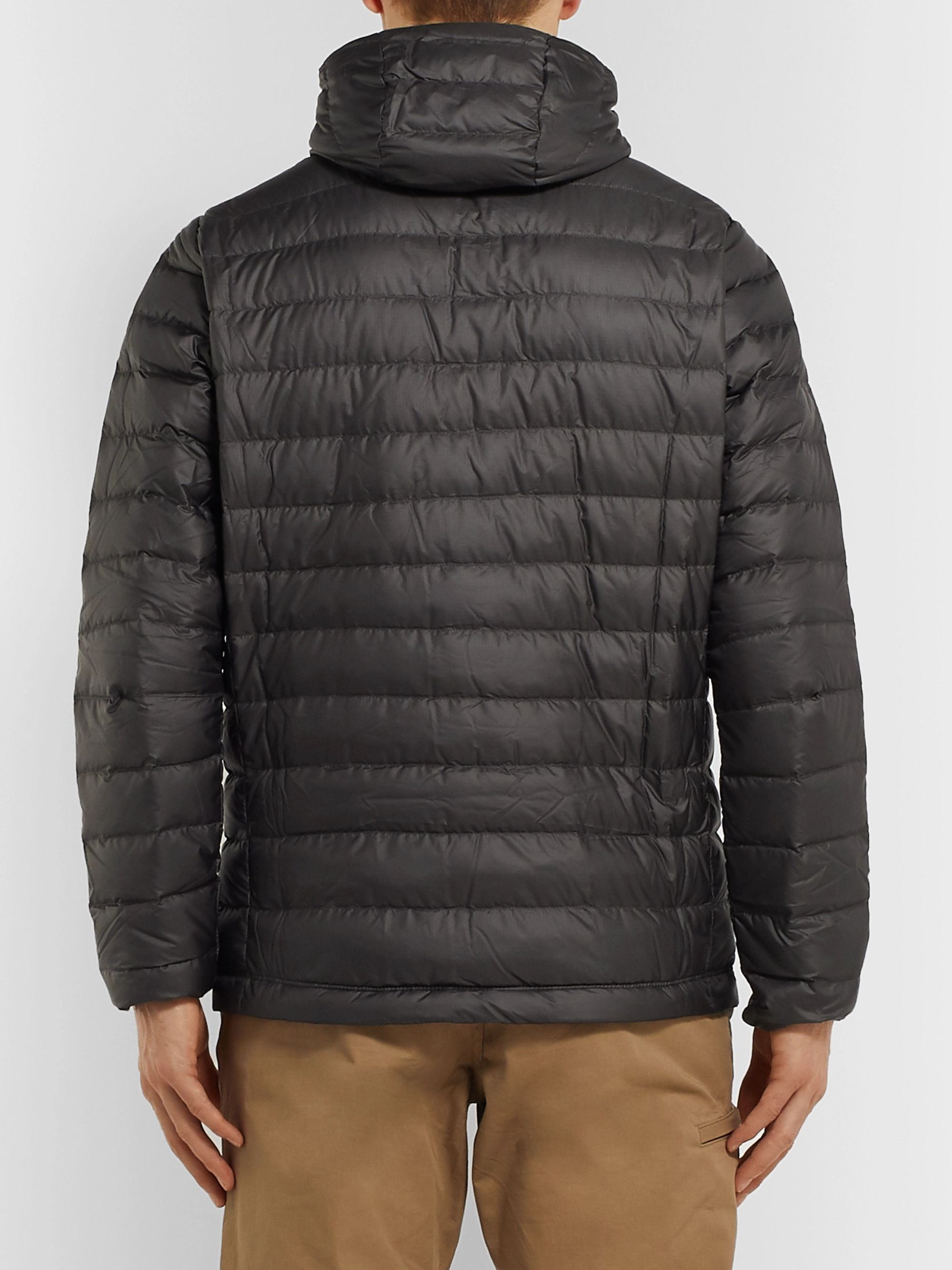 Patagonia Quilted DWR-Coated Ripstop Hooded Down Jacket