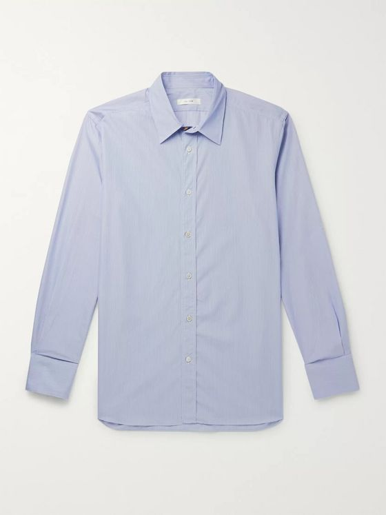 THE ROW Keith Striped Cotton Shirt