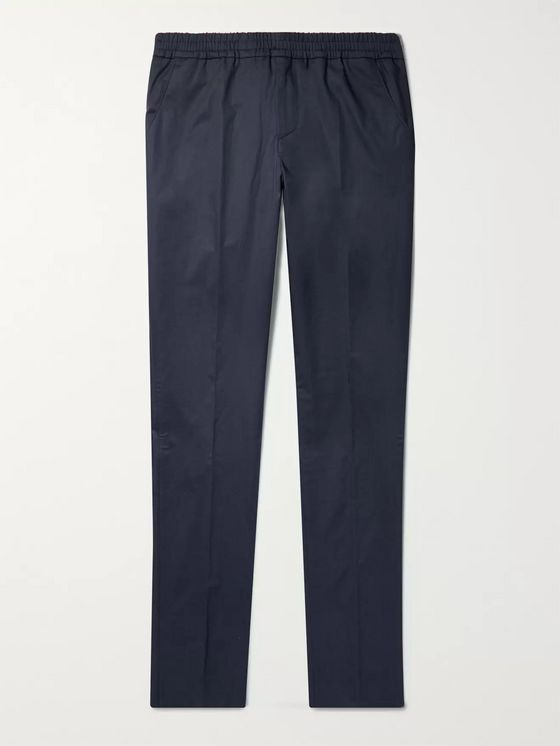 Loro Piana Stretch-Cotton Twill Drawstring Trousers