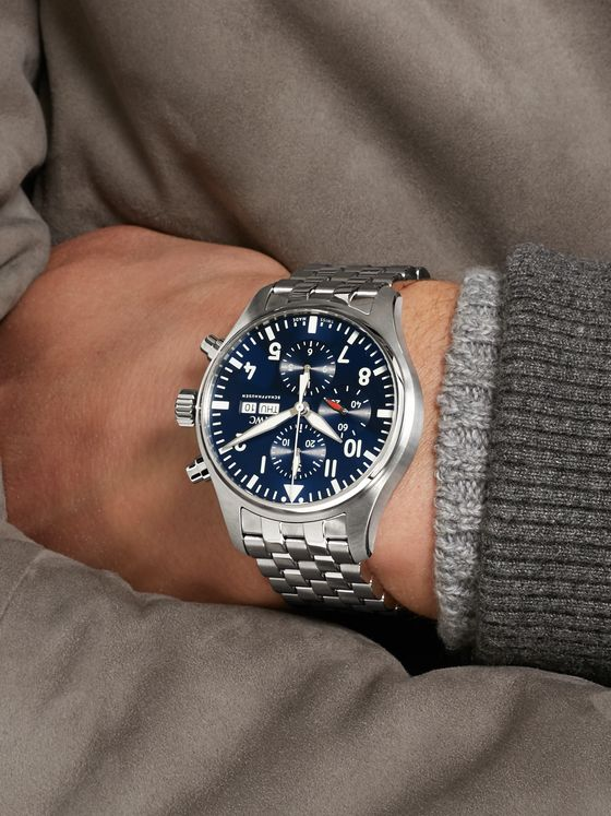 IWC SCHAFFHAUSEN Pilot's Le Petit Prince Edition Chronograph 43mm Stainless Steel Watch, Ref. No. IW377717