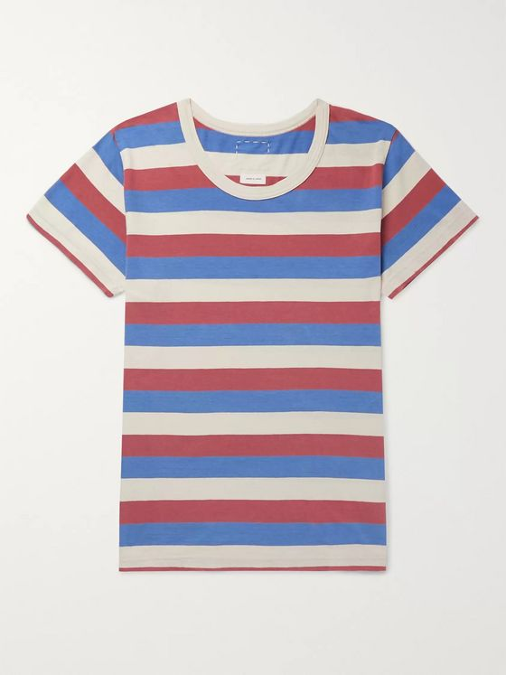 Power Red 3 Stripes Tee L