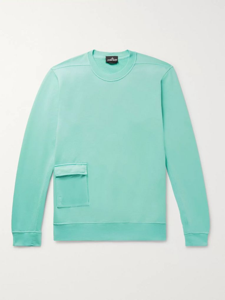 Stone Island Shadow Project Loopback Cotton-Jersey Sweatshirt