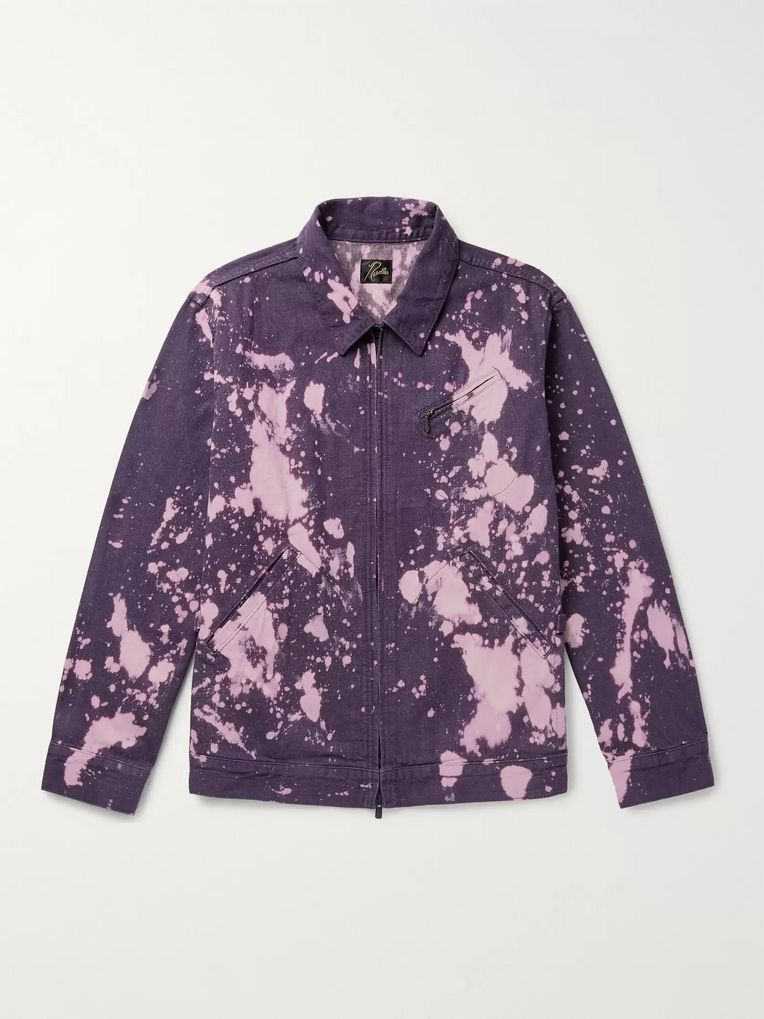 Needles Bleach-Splattered Denim Jacket