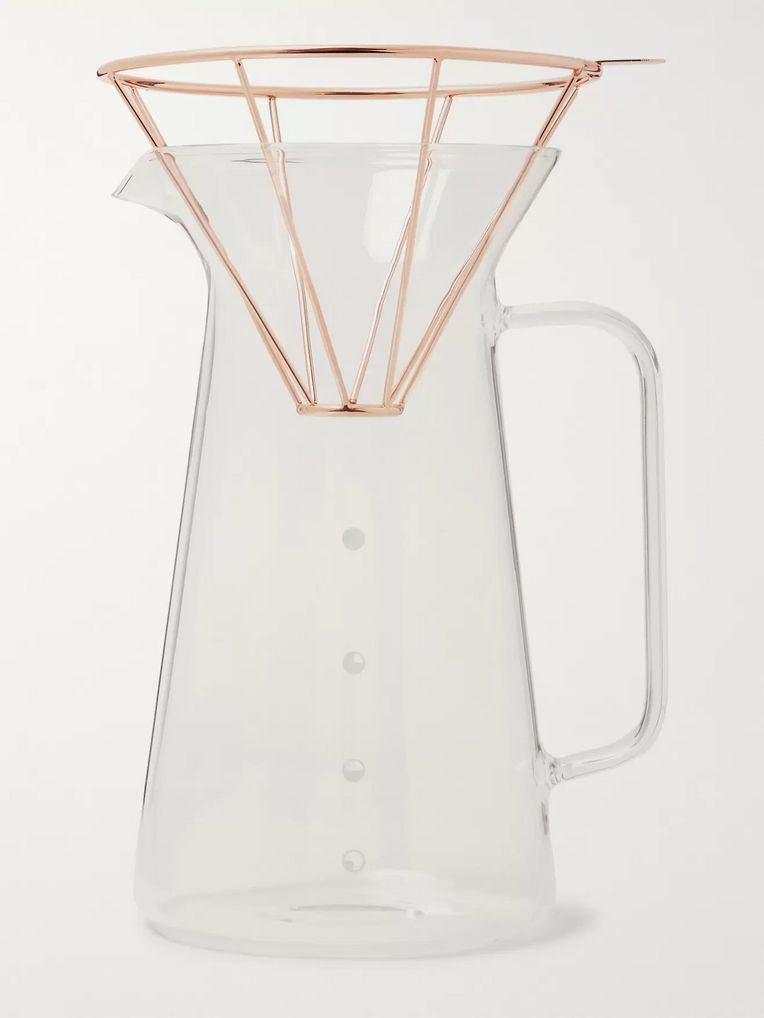 Toast Living H.A.N.D Copper-Tone Coffee Carafe Set