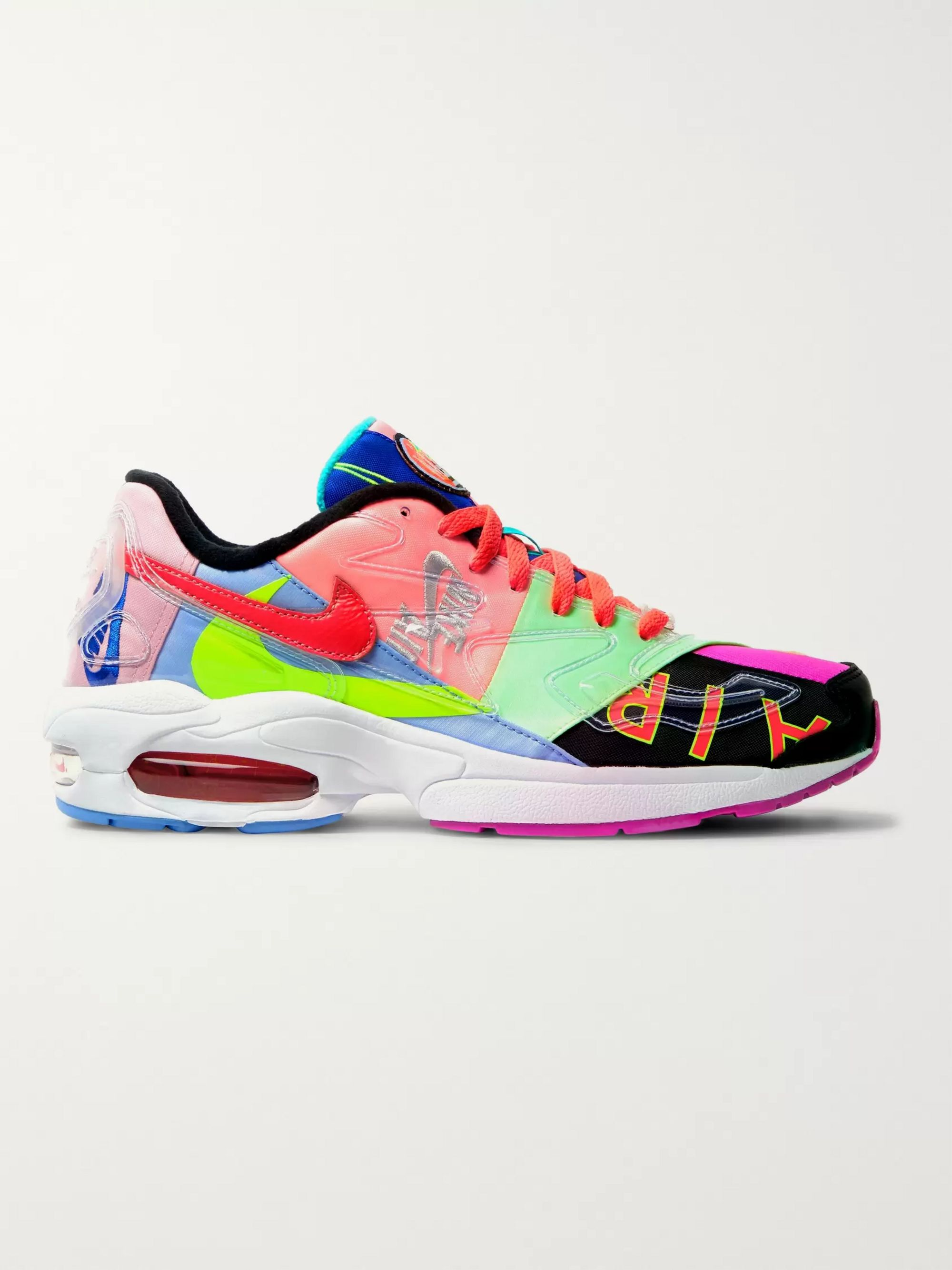 Nike + Atmos Air Max2 Light Canvas and Rubber Sneakers