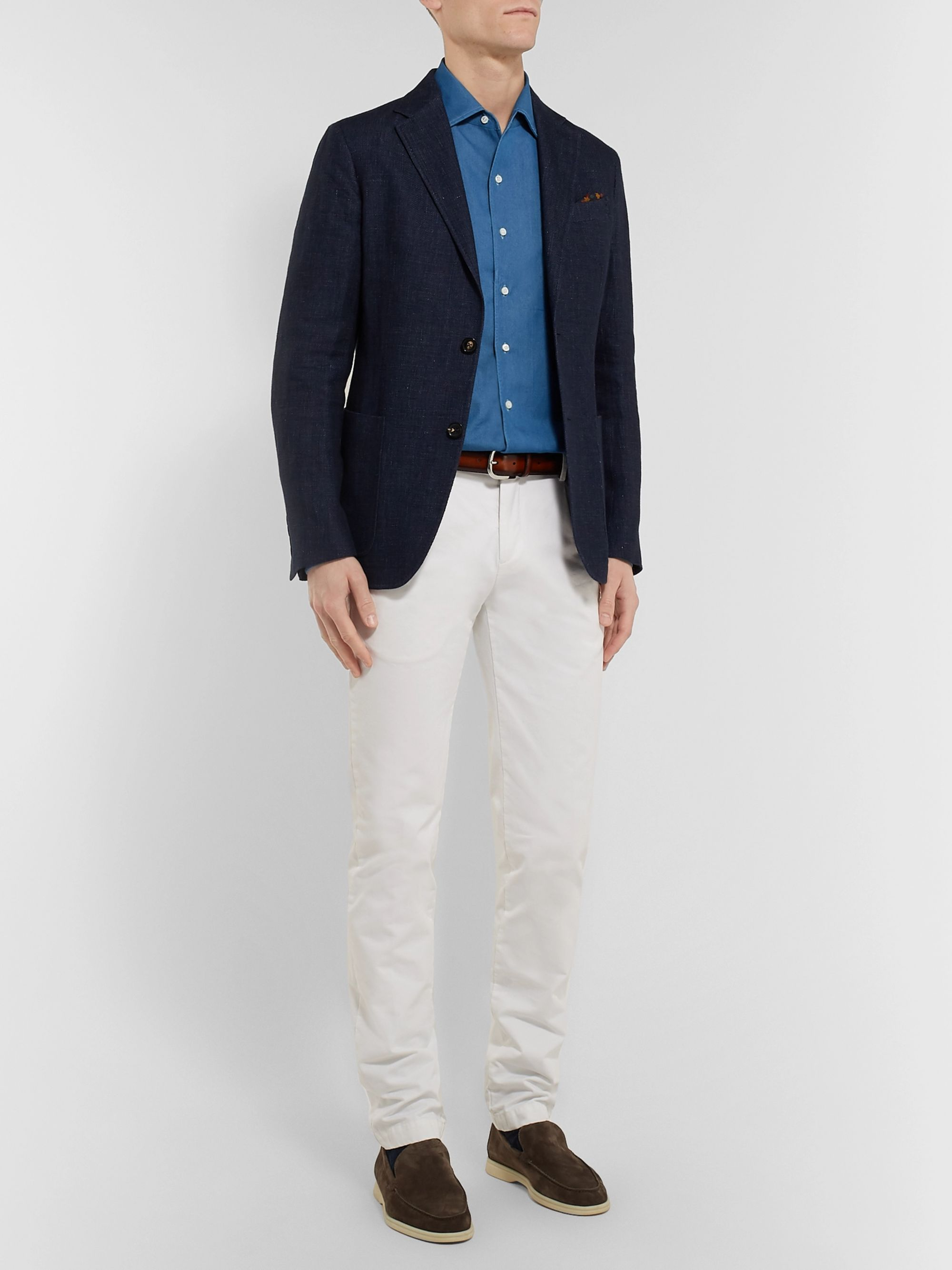 Loro Piana Andre Cotton-Chambray Shirt