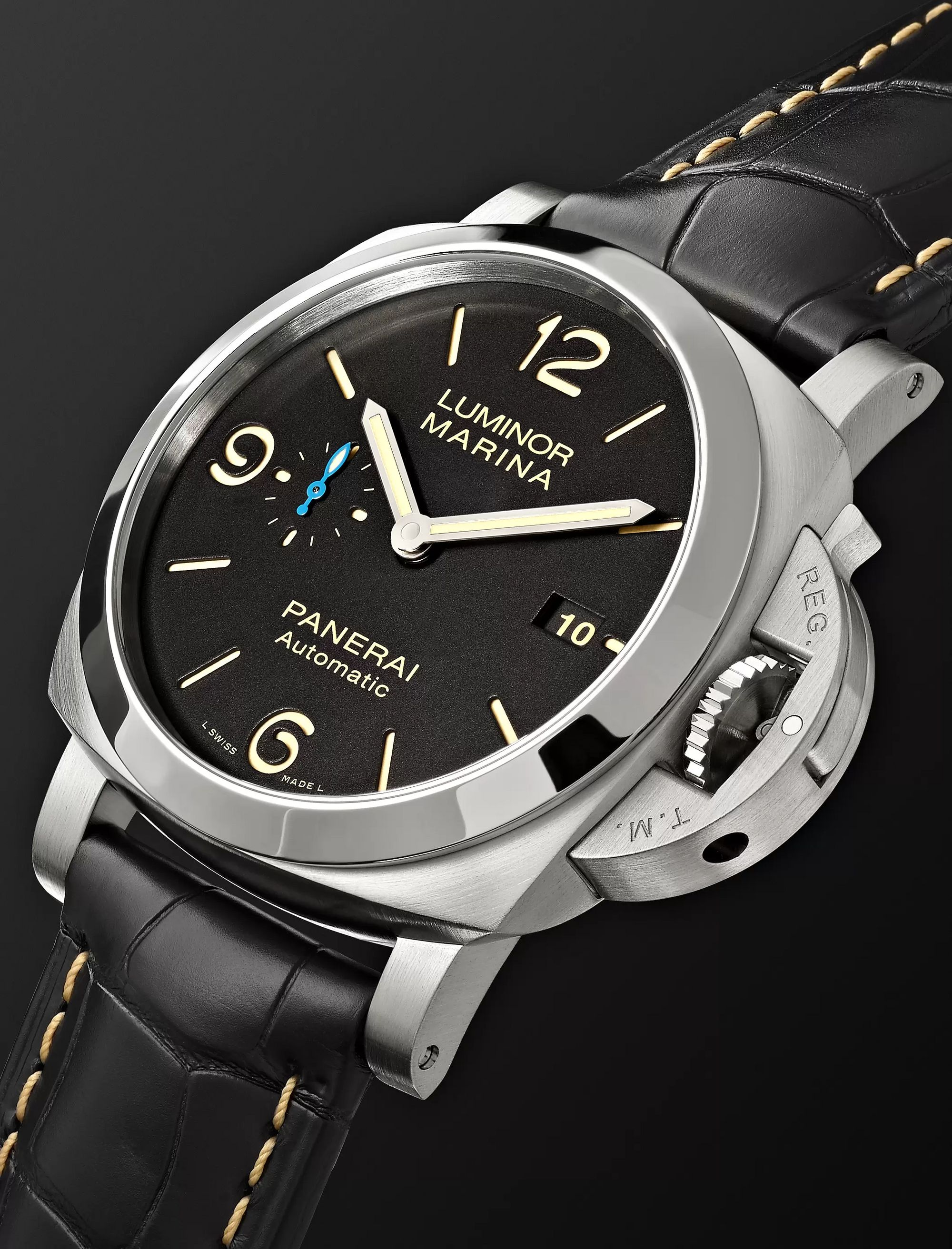 Panerai Luminor Marina 1950 3 Days Acciaio 44mm Stainless Steel and Alligator Watch, Ref. No. PAM01312