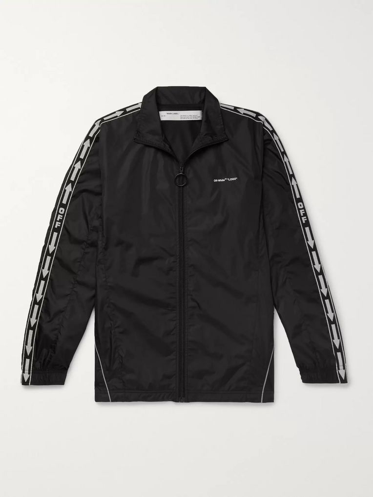 Off-White Webbing-Trimmed Shell Track Jacket