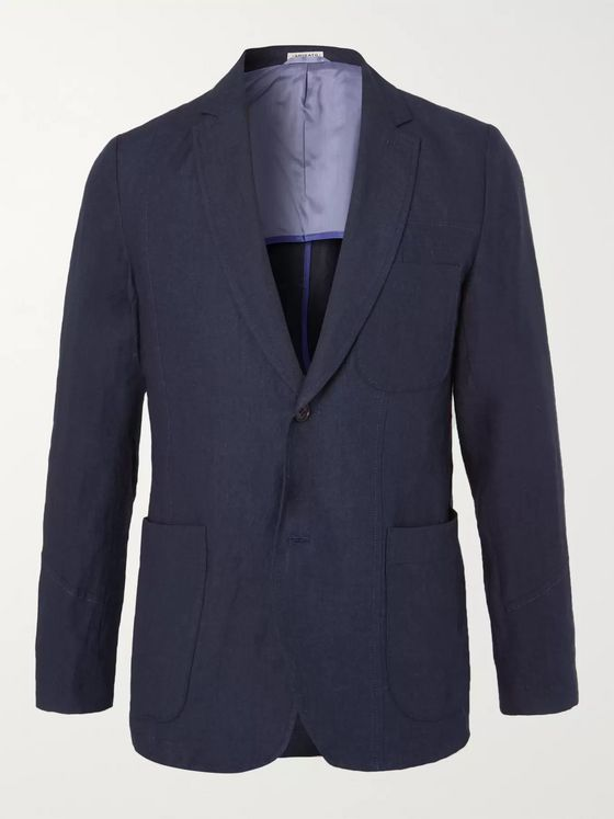 Blue Blue Japan Indigo Slim-Fit Unstructured Linen Blazer