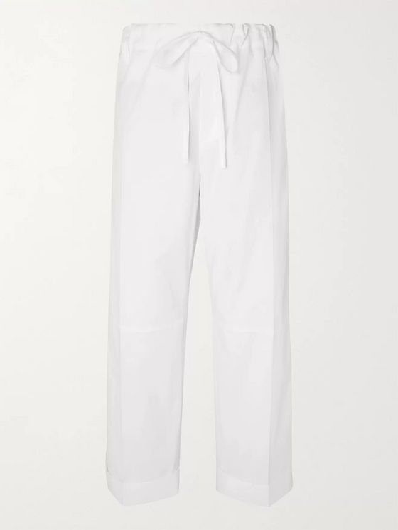 Jacquemus Wide-Leg Cotton-Twill Drawstring Trousers