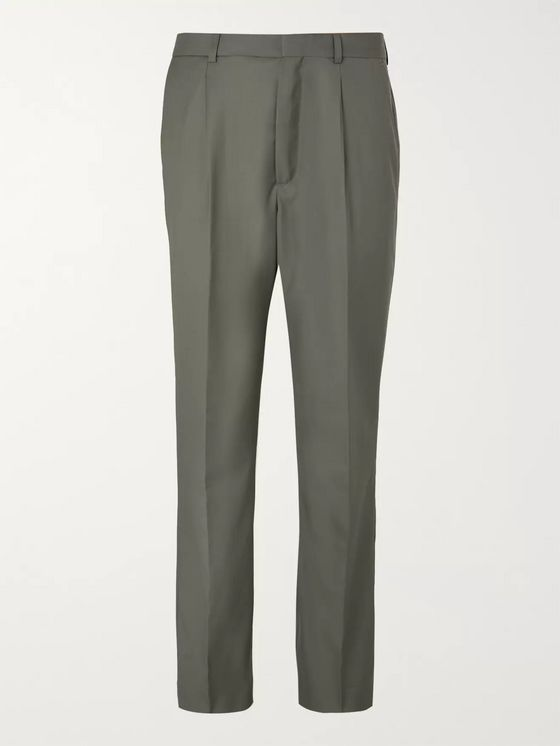 Jacquemus Grey-Green Yvan Virgin Wool Suit Trousers
