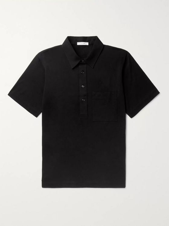 THE ROW Si Cotton-Jersey Polo Shirt