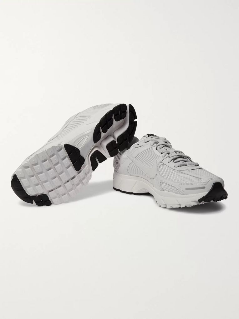Nike Zoom Vomero 5 Canvas-Trimmed Mesh Sneakers
