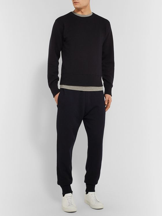 THE ROW Louis Tapered Cotton and Cashmere-Blend Sweatpants