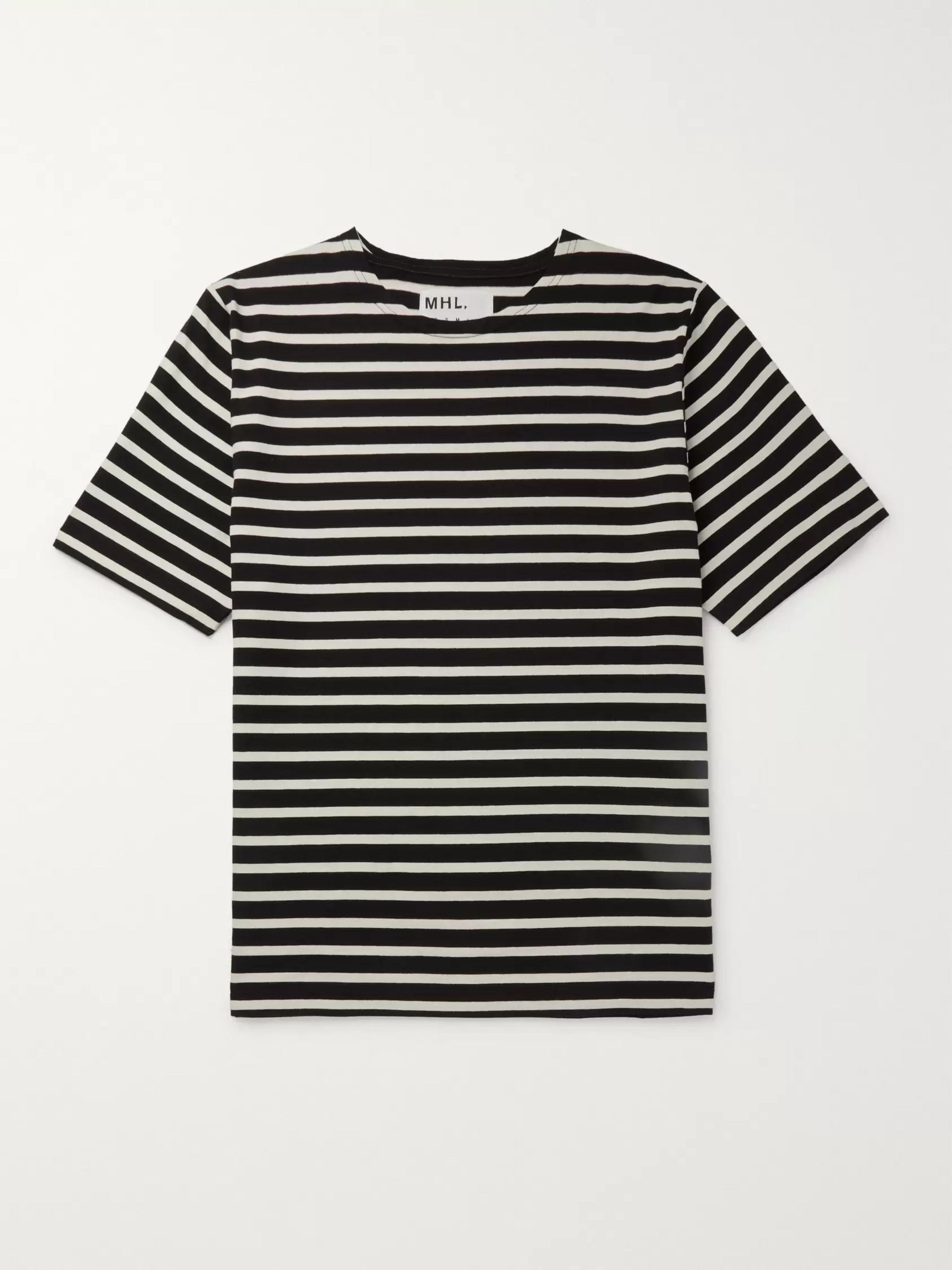 Margaret Howell MHL Striped Cotton-Jersey T-Shirt
