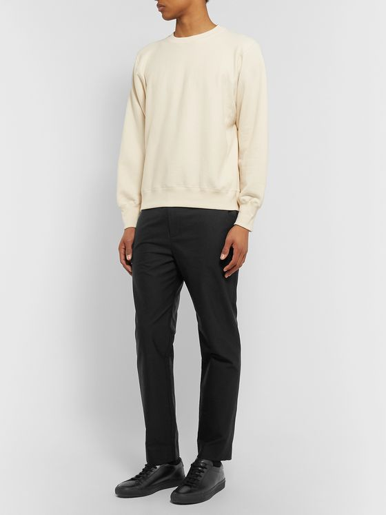 The Row Grey LA Track Slim-Fit Tapered Cotton Trousers