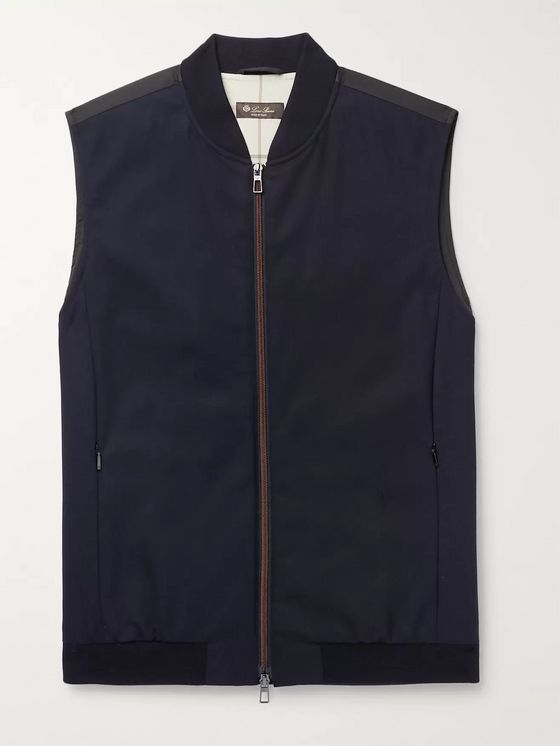 Loro Piana Panelled Virgin Wool-Blend and Storm System Shell Gilet