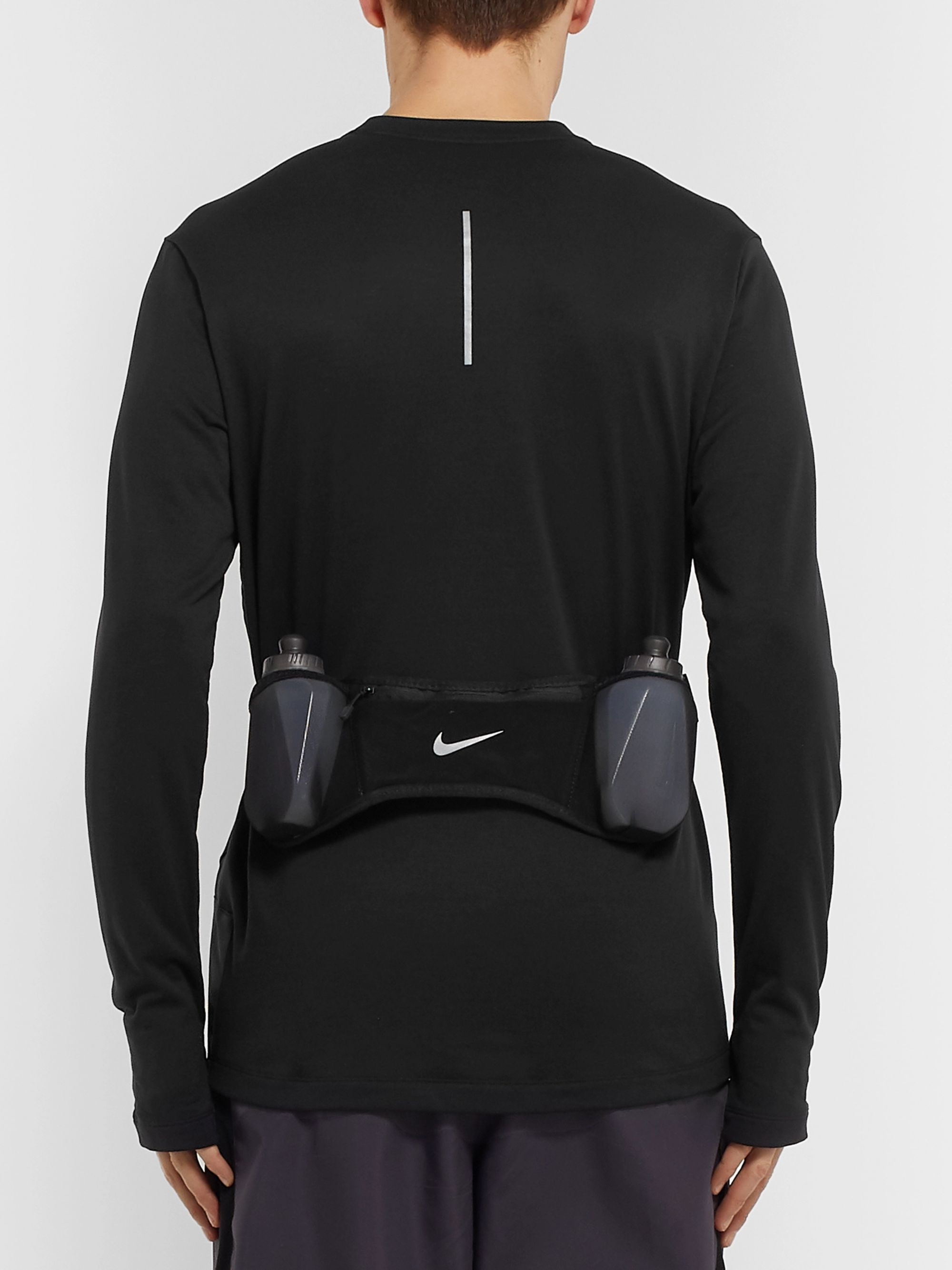 Nike Double-Pocket 600ml Flask Belt with Bottles