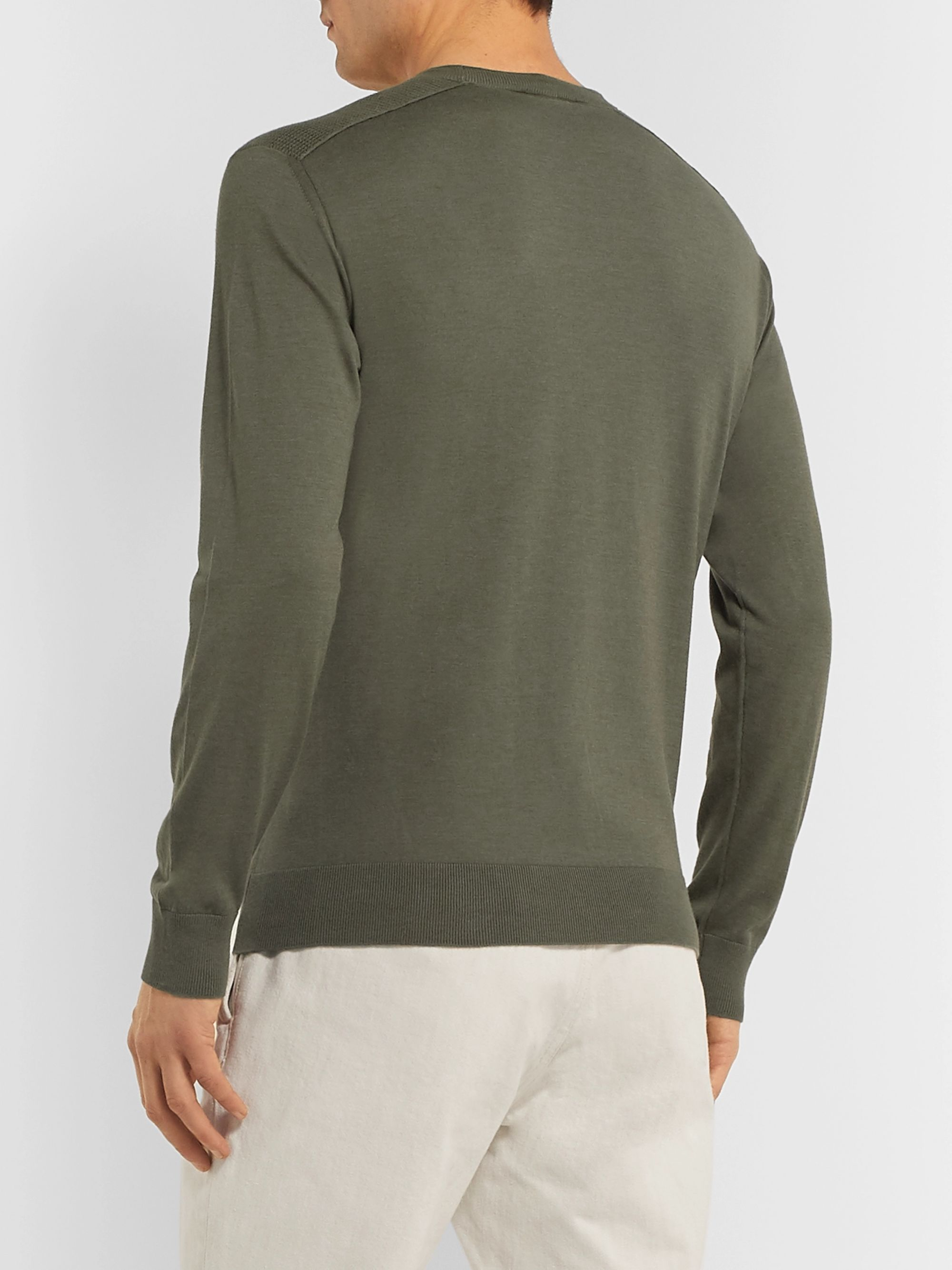 Loro Piana Slim-Fit Cotton and Silk-Blend Sweater