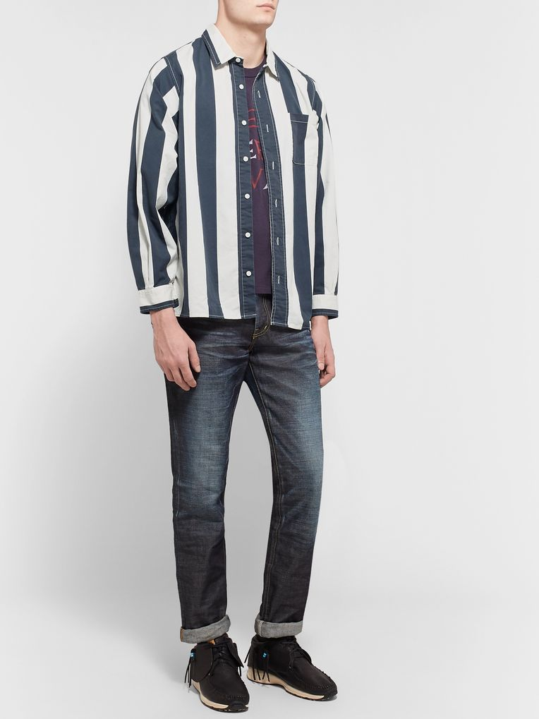 visvim Striped Cotton-Twill Shirt