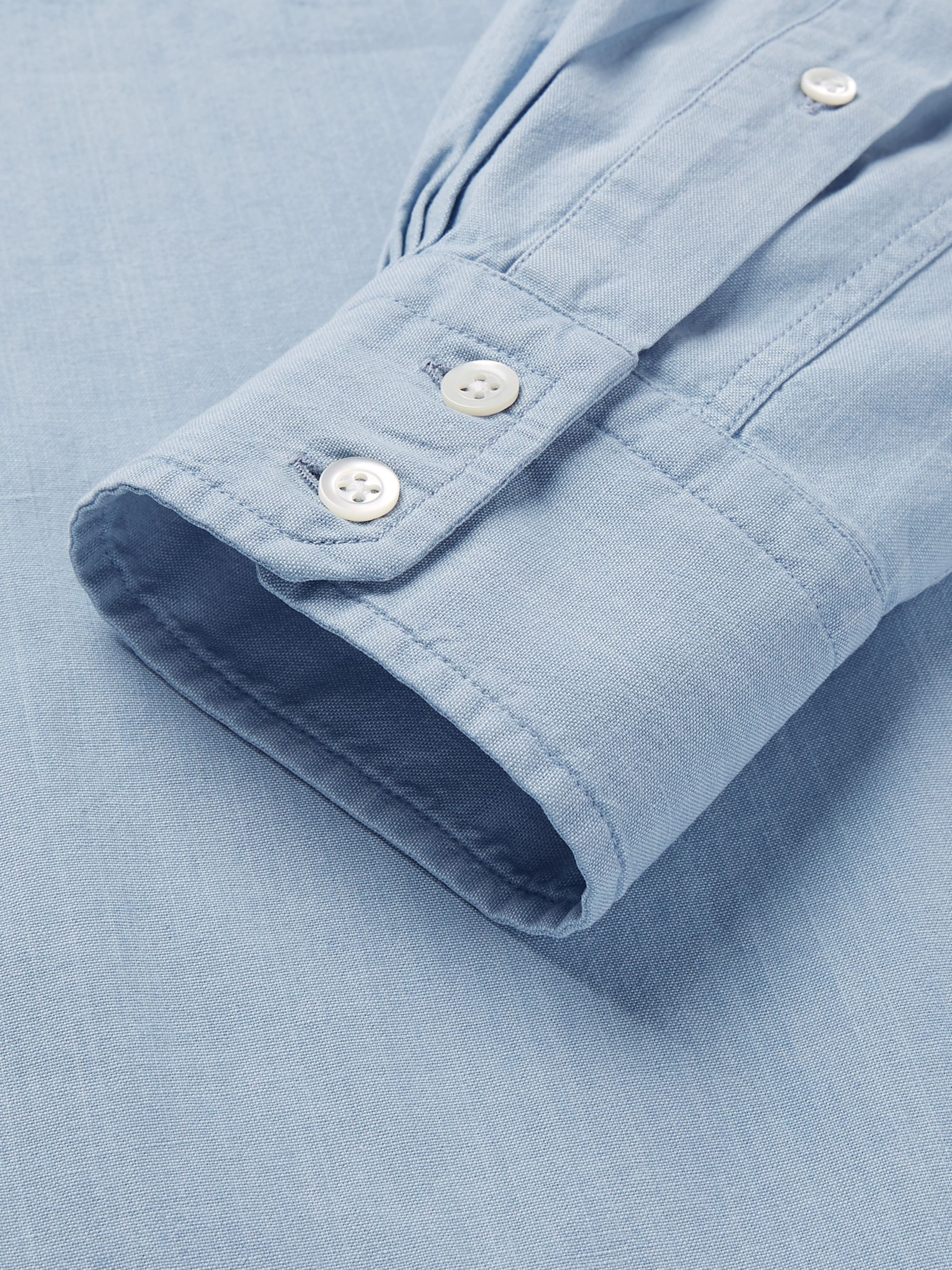 MAN 1924 Button-Down Collar Cotton-Chambray Shirt