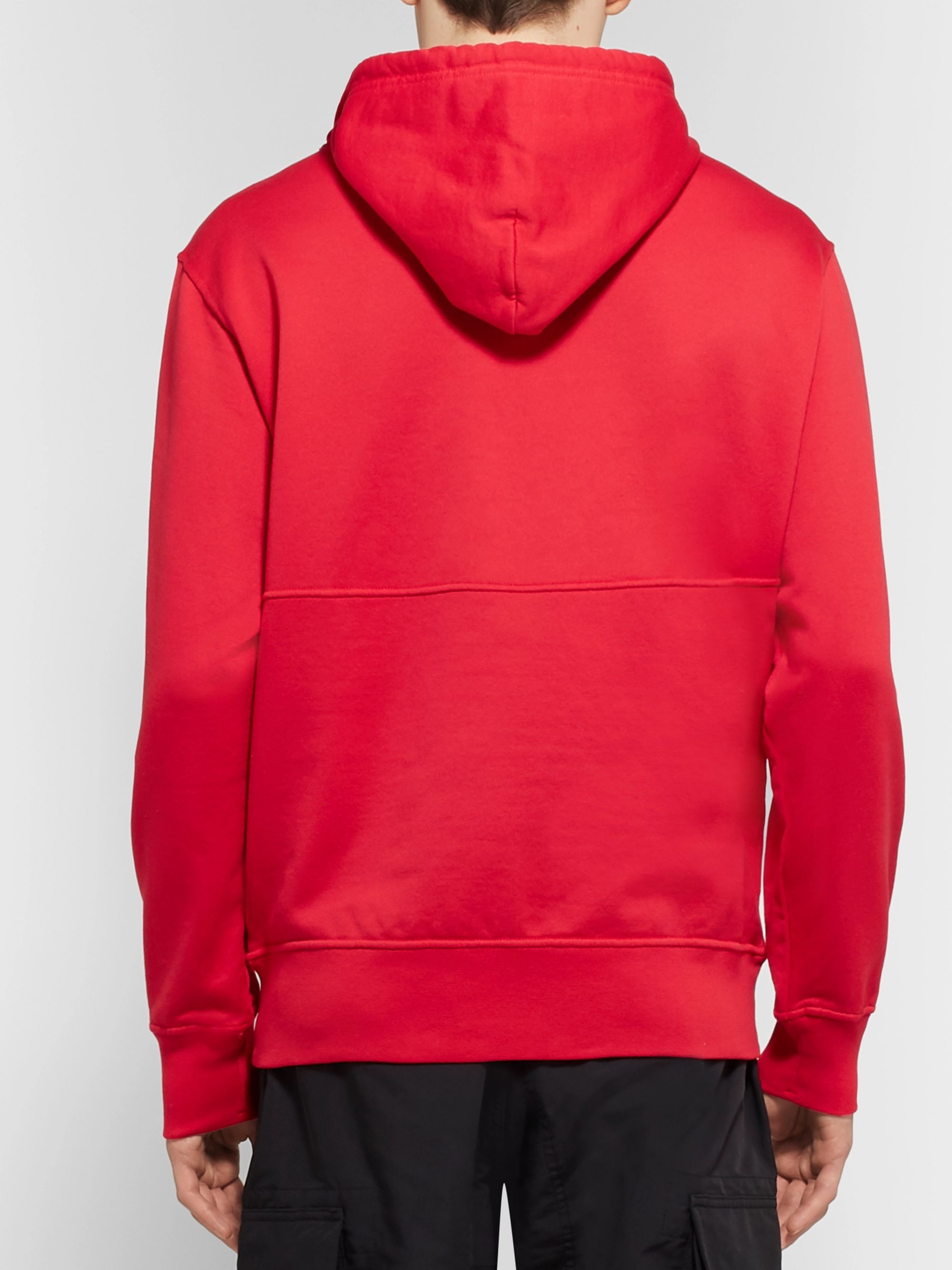 Stone Island Shadow Project Mesh-Panelled Loopback Cotton-Jersey Hoodie