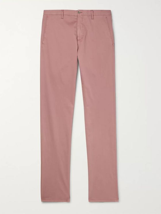 Zanella Noah Garment-Dyed Stretch-Cotton Chinos
