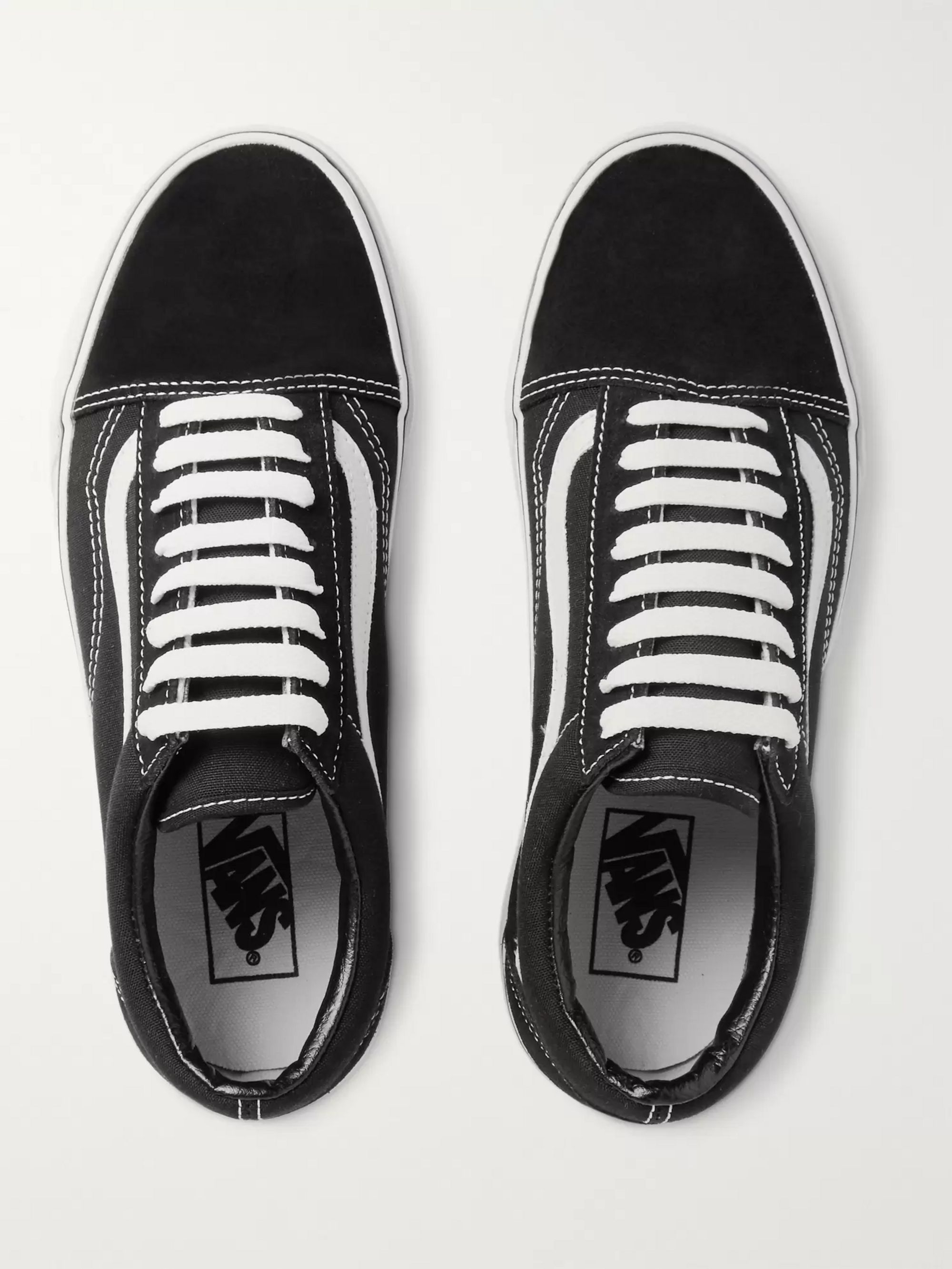 Old Skool Leather Trimmed Canvas and Suede Sneakers