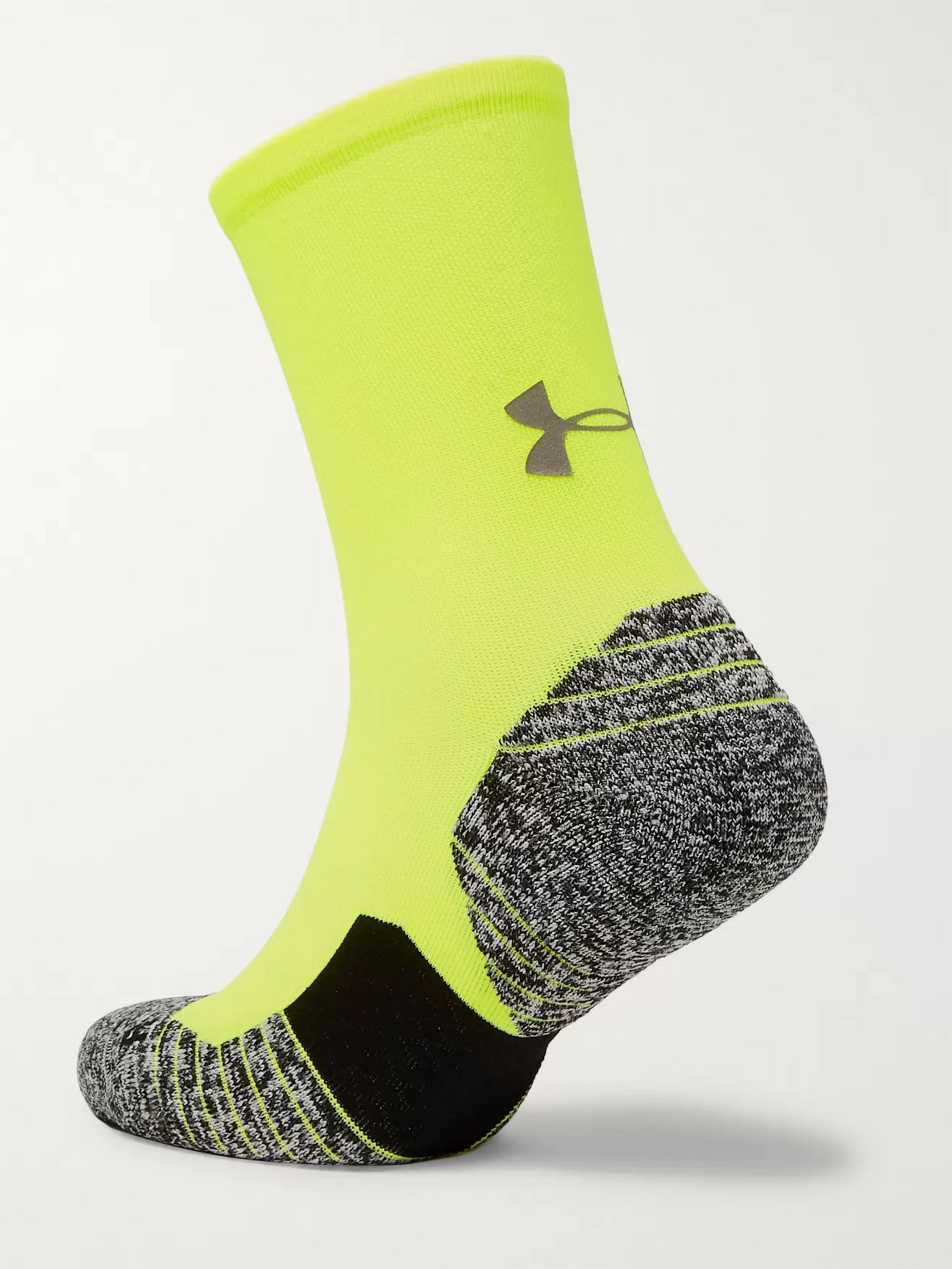 Under Armour UA Run Cushion Crew Stretch-Knit Socks
