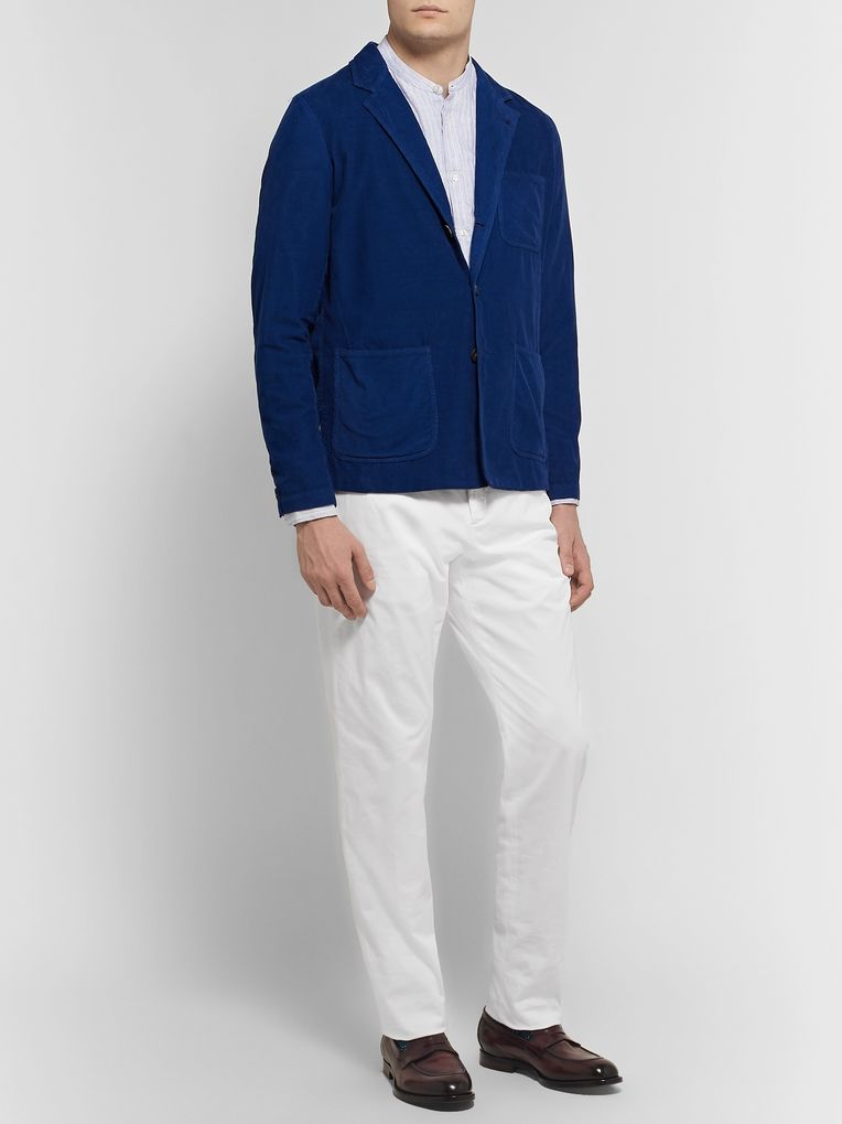Zanella Noah Slim-Fit Garment-Dyed Cotton-Blend Chinos