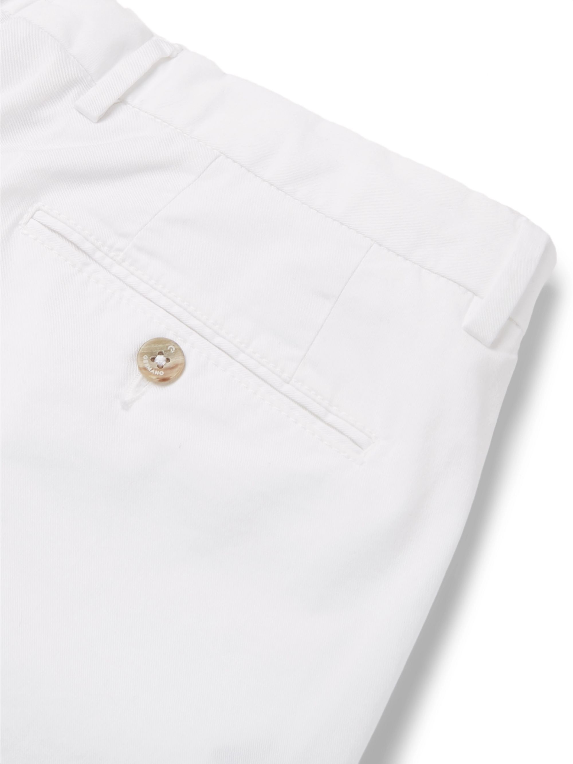 Beams F Slim-Fit Stretch-Cotton Twill Trousers