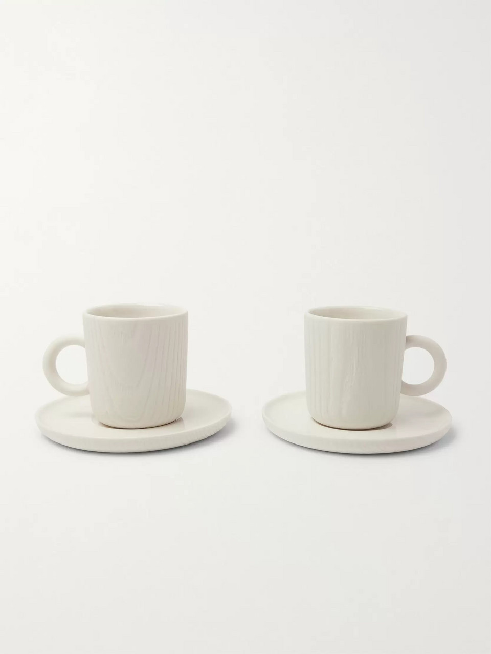 Toast Living MU Set of Two Porcelain Espresso Cups And Saucers
