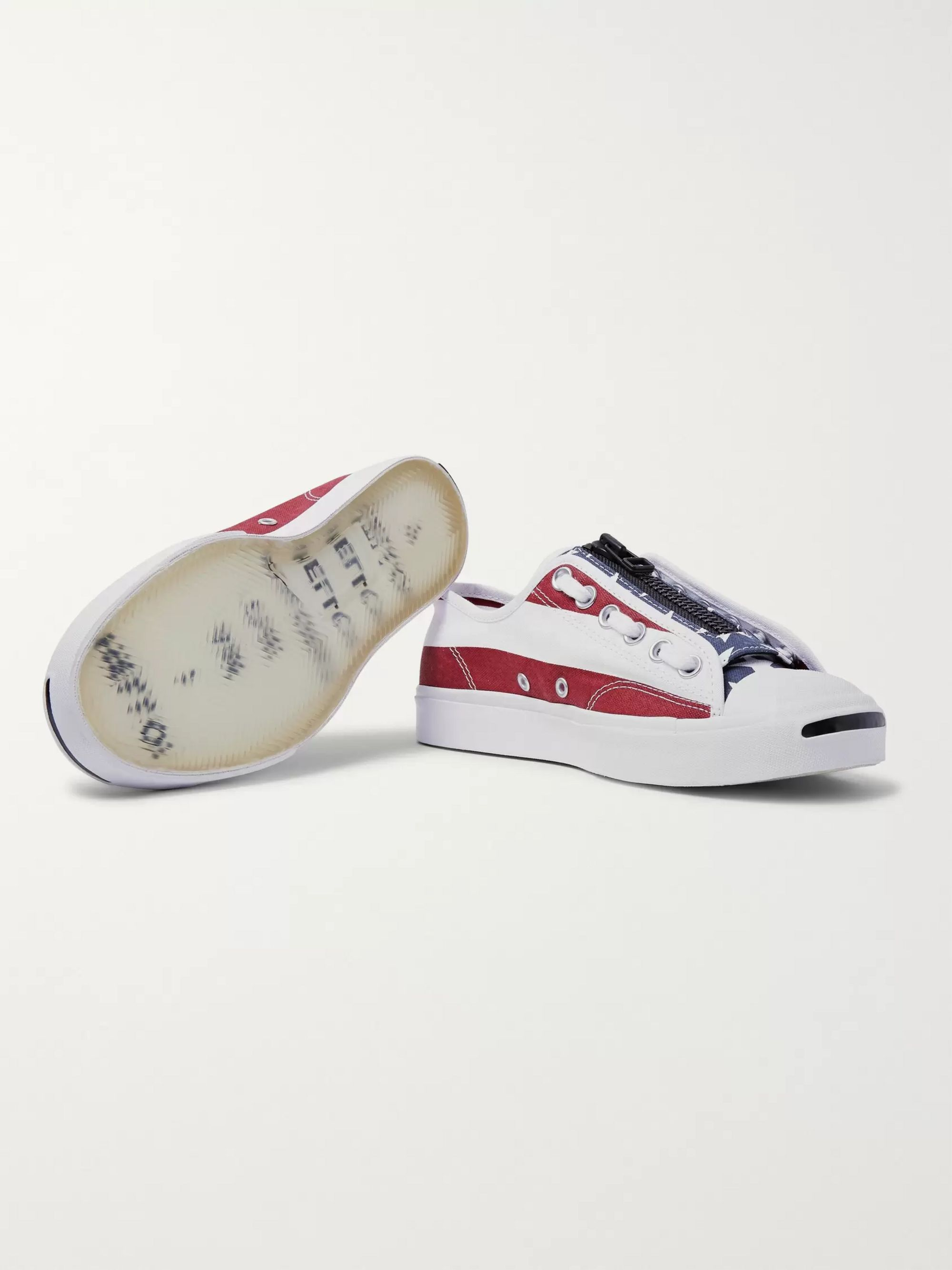 Converse +  TAKAHIROMIYASHITA TheSoloist. Jack Purcell Zip Printed Canvas Sneakers